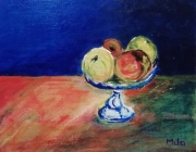 tableau nature morte fruits : Pom-Pom-Pom-Pom