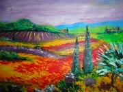 tableau paysages coquelicot : PAYSAGE COQUELICOT