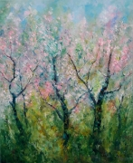 tableau paysages landscapes sea and oil painting abstract sakura blossom : painting Sakura blossom