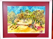 tableau paysages provence oliviers luniversdenapa : Provence