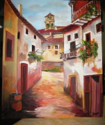 tableau paysages : RUELLE ITALIENNE