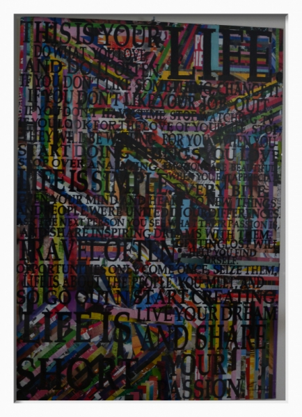 Tableau Peinture La Pilule Du Bonheur By Elah Sur Base Du The H