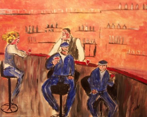 Tableau Peinture Acrylique Sur Toile Création Acrylique Personnage