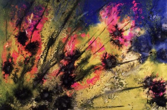 Tableau Peinture Acrylique Tableau Toile Fleurs Floraison