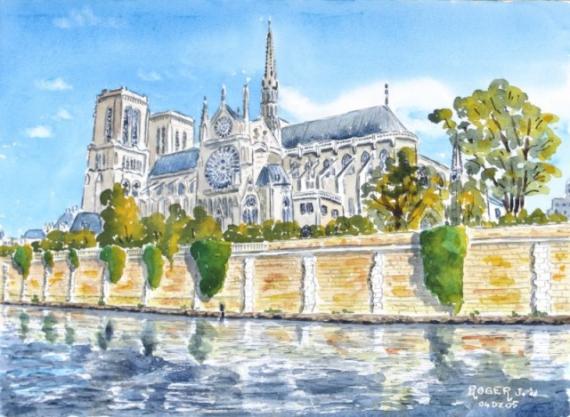 Tableau Peinture Notre Dame De Paris