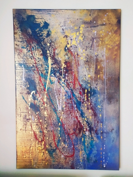 TABLEAU PEINTURE art abstrait 渦vre unique Abstrait Acrylique  - Composition n�