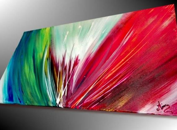Tableau Peinture Art Moderne Art Contemporain Tableau D Artiste Peinture Unique Tableau Abstrait Explosion De Couleur