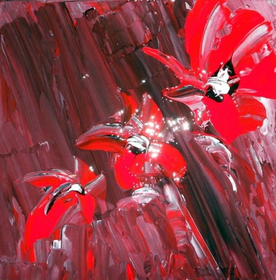 Tableau Peinture Art Peinture Nouveau Fleurs Contemporain Abstrait