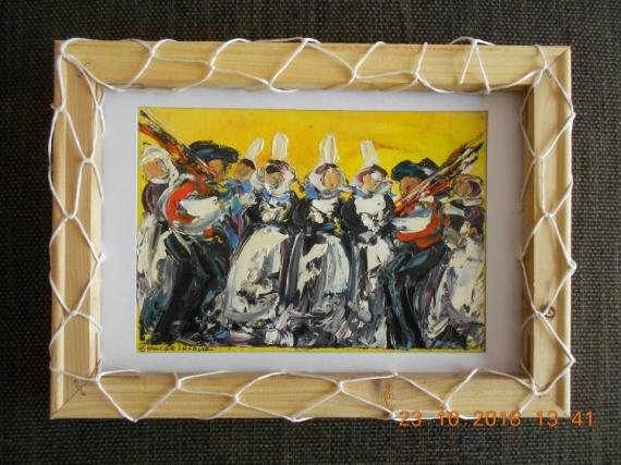 Tableau Peinture Bretagne Bretons Per Huile Contemporain Moderne