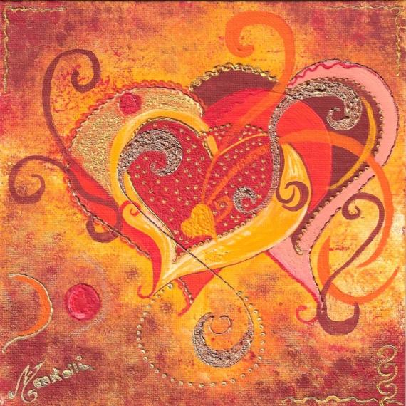 Tableau Peinture Coeur Fête Des Mères Drouot Couleur Et Relief