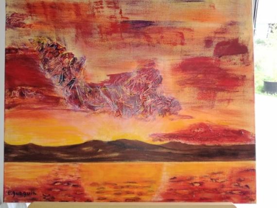 Tableau coucher de soleil et montagne 2 6c3dedfdbc3eaf932d67a2ece78eec7fcoucherdesoleil4