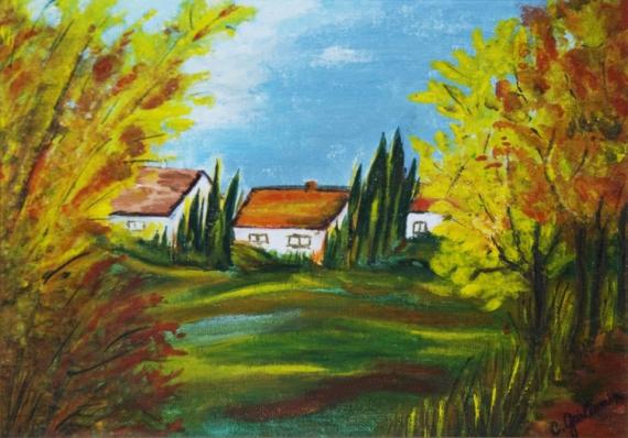tableau peinture gouache