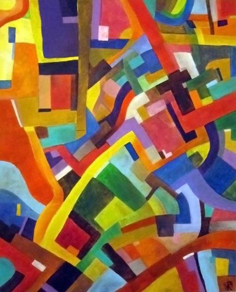 Parfait TABLEAU PEINTURE Couleurs Joyeux Dynamique Moderne Abstrait Acrylique   La  Nouvelle Harmonie