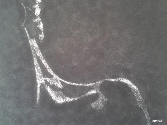 Tableau Peinture Dessin Femme Nus Noir Et Blanc Epaule