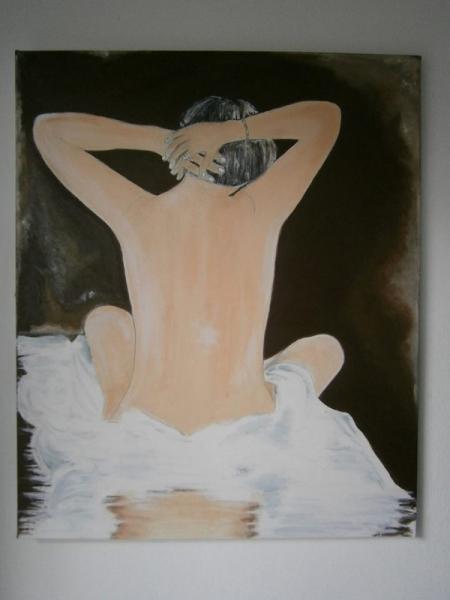 Tableau Peinture Femme Nu De Dos Nu De Dos