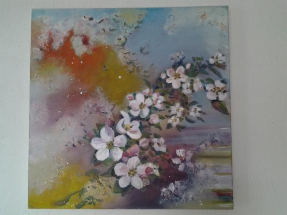 Tableau Peinture Fleur Fleurs De Cerisier