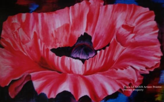 Tableau Peinture Fleur Peinture Toile Acrylique Primaire Xv