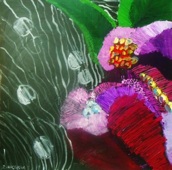 Tableau Peinture Tropical Flowers