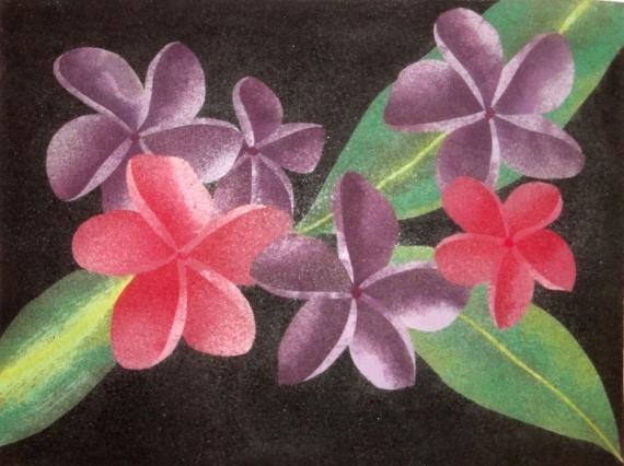 Tableau Peinture Fleurs Fleurs Exotiques 1