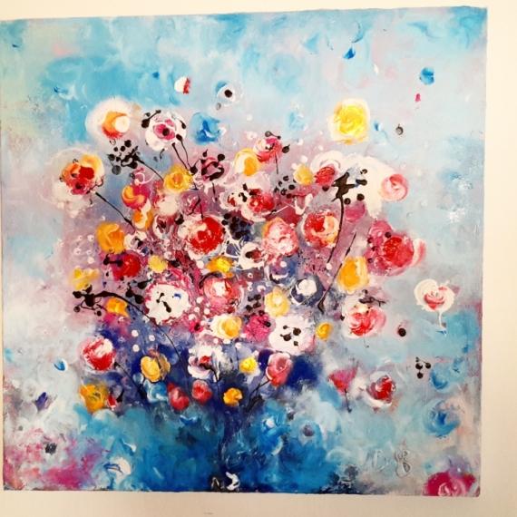 Tableau Peinture Fleurs Peinture Moderne Acrylique Tableau