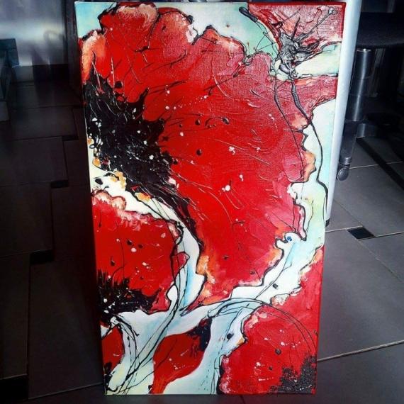 Tableau Peinture Fleurs Tableau Moderne Coquelicot Tableau
