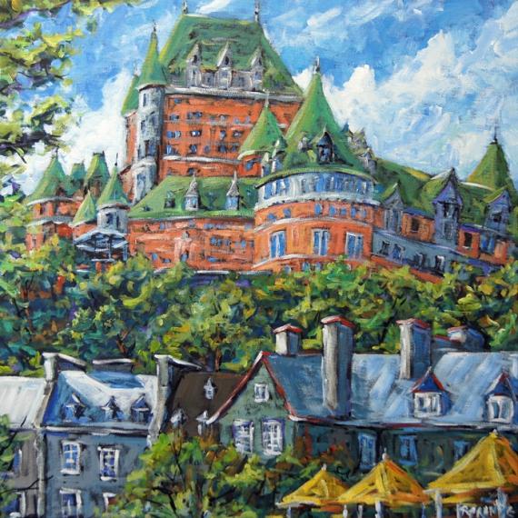 TABLEAU PEINTURE Historique Ville de Québec