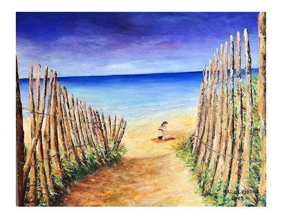 tableau peinture plage