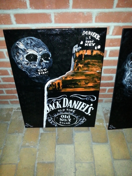 tableau peinture jack daniels bar pub whiskey decoration jack daniels rh galerie creation com tableau jack daniels cdiscount