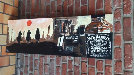 tableau peinture jack daniels whiskey acrylique decoration jack rh galerie creation com