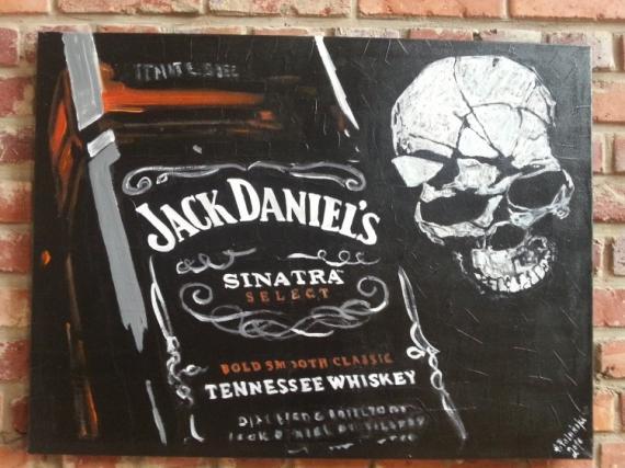 tableau peinture jack daniels whisky acrylique decoration jack rh galerie creation com