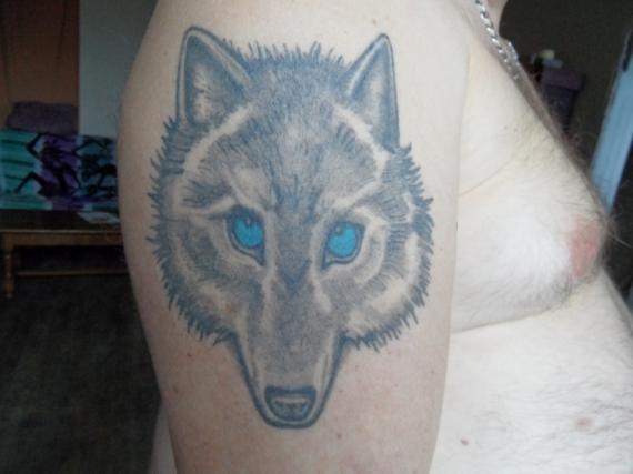 Tableau Peinture Loup Tatouage Tatoo Tattoo Loup