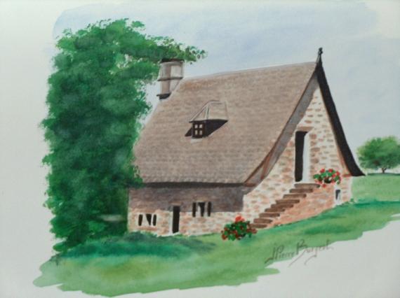 Tableau Peinture Maison Correzienne Maison Correzienne L Escalier