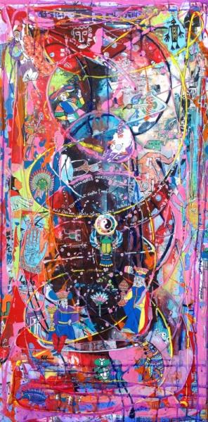 Tableau Peinture Max Weber Edwige Col Magicien Oracles Les