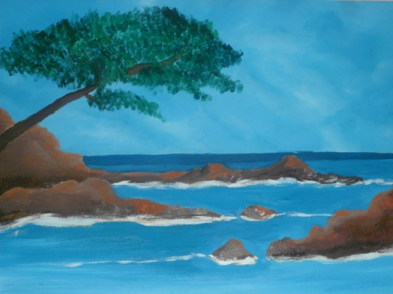 Tableau Peinture Mer Paysage Paysage Mediteranne