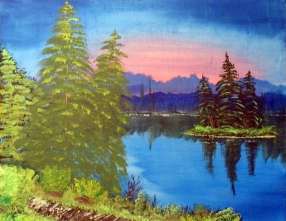 Tableau lac montagne et foret 1 576043cacd8d4b296441e47b980760b0sam5127