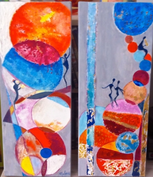 Tableau Peinture Musique Jazz Planete Moderne Jazz Dans La