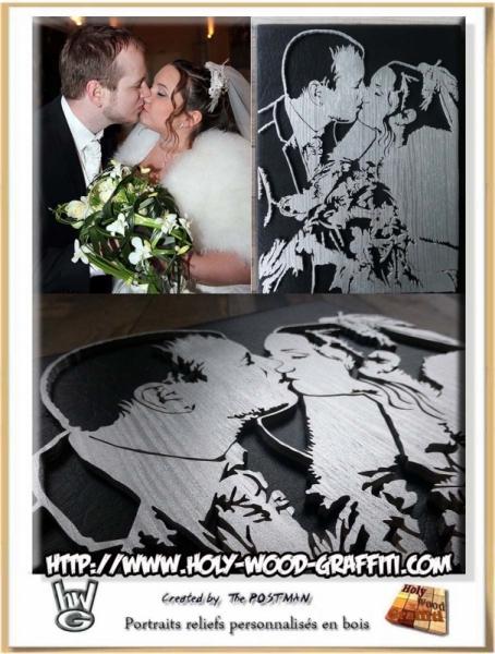 Tableau Peinture Noces Dargent 25 Ans De Mariage Cadeau