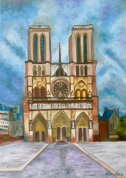 Tableau Peinture Notre Dame De Paris Paris Monument Eglise Chere Notre Dame Paris