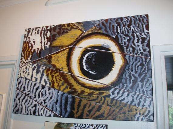 Peinture Dans L Oeil tableau peinture - oeil de papillon