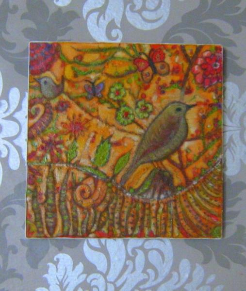 Tableau Peinture Oiseau Papillon Peinture Tableau Oiseau Sur Son