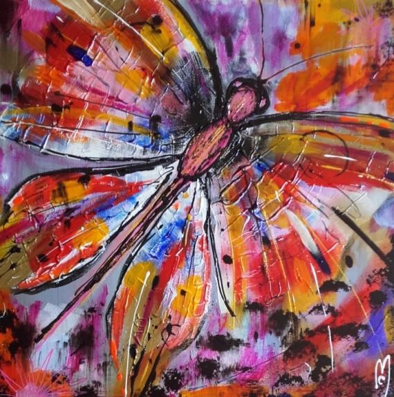 Tableau Peinture Papillon Nature Céline Marcoz Papillon