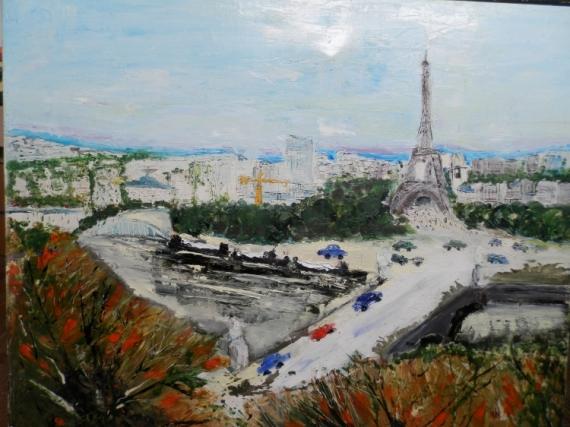 Tableau Peinture Paris Tour Eiffel Ville Capitale Paris