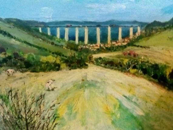Tableau Peinture Paysage Haut De France Viaduc Lumiere Viaduc D Echinghen