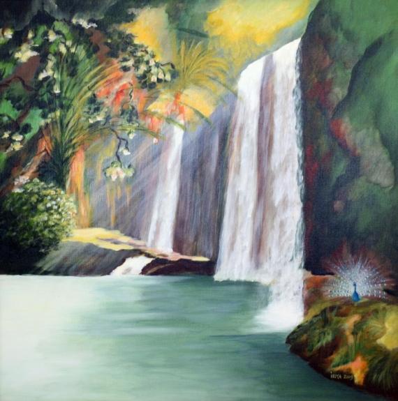 Tableau Peinture Petit Paradis Terrestre