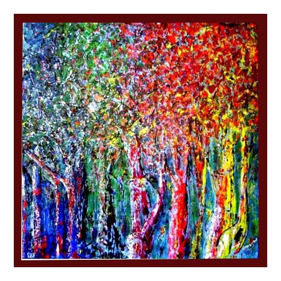 Tableau Peinture Palette Darbres