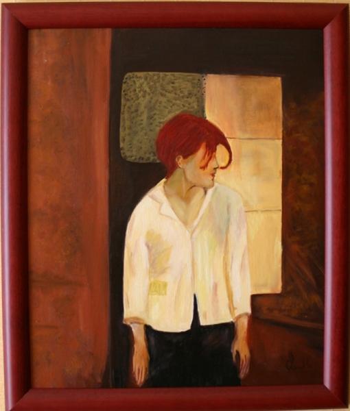 Tableau Peinture Femme Rousse