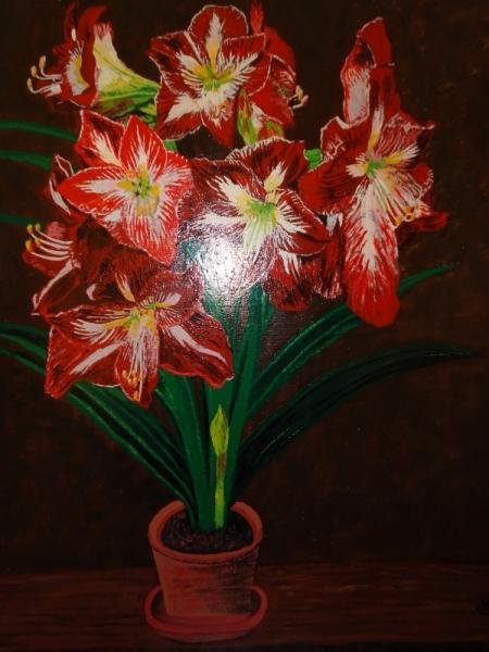 161c19648f3d TABLEAU PEINTURE peinture fleurs paysage peinture a l hu joky kamo Fleurs  Peinture a l