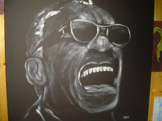 Tableau Peinture Ray Charles