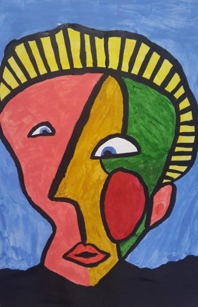 TABLEAU PEINTURE Picasso - Portrait abstrait