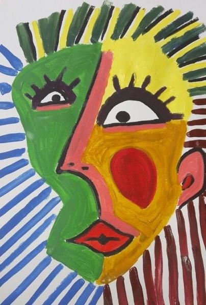 Tableau Peinture Picasso Portrait Abstrait Inspire De Picasso